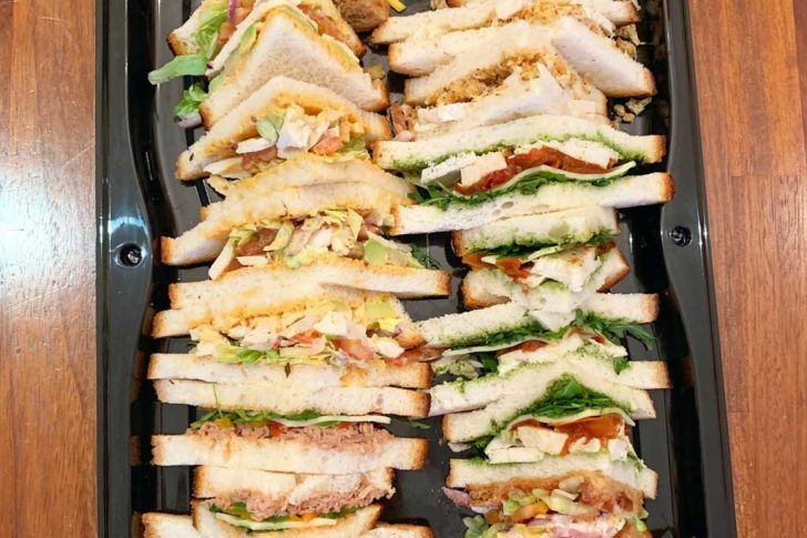A selection of sandwiches in Quigleys sandwich platter