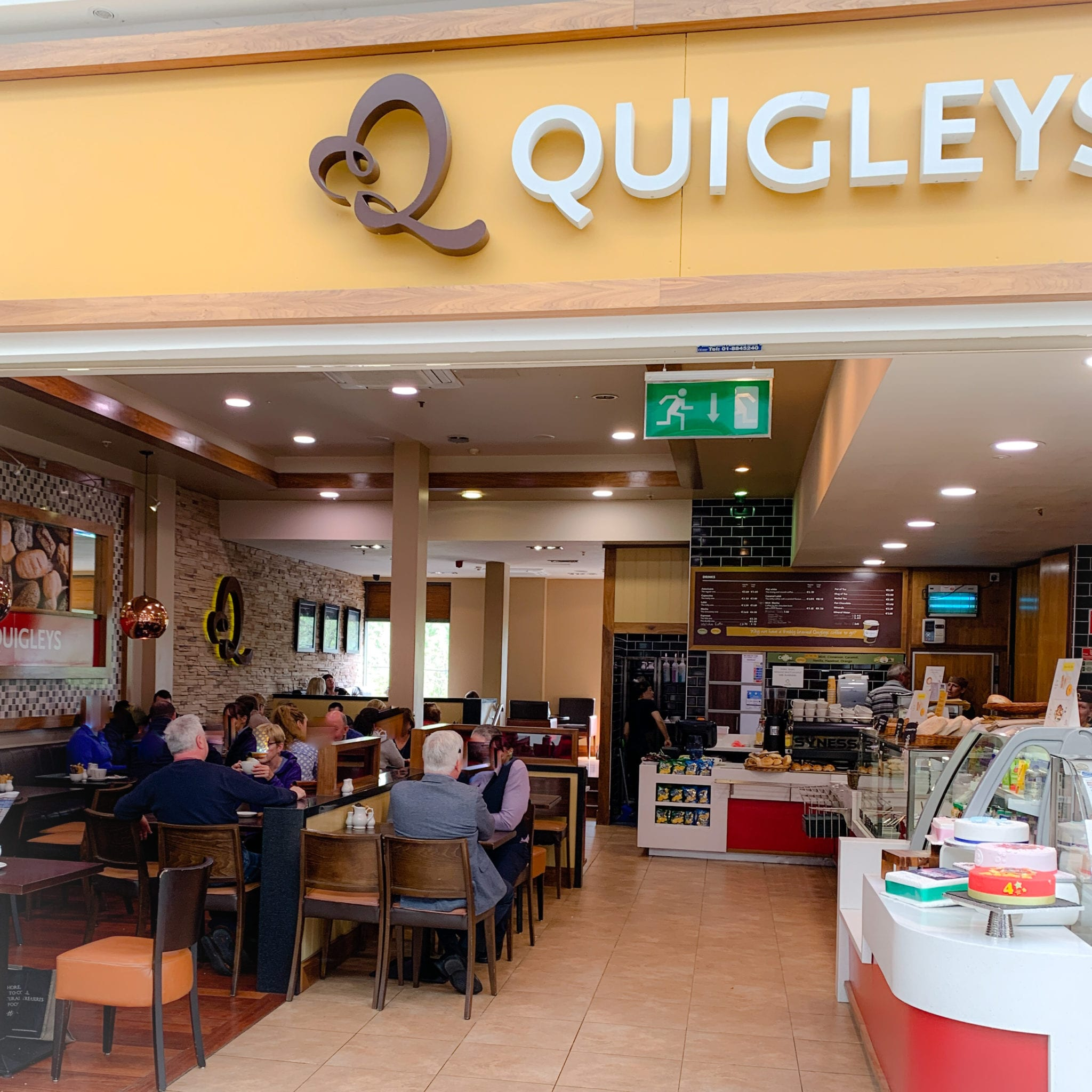 Quigleys cafe Thurles Shopping Centre Tipperary