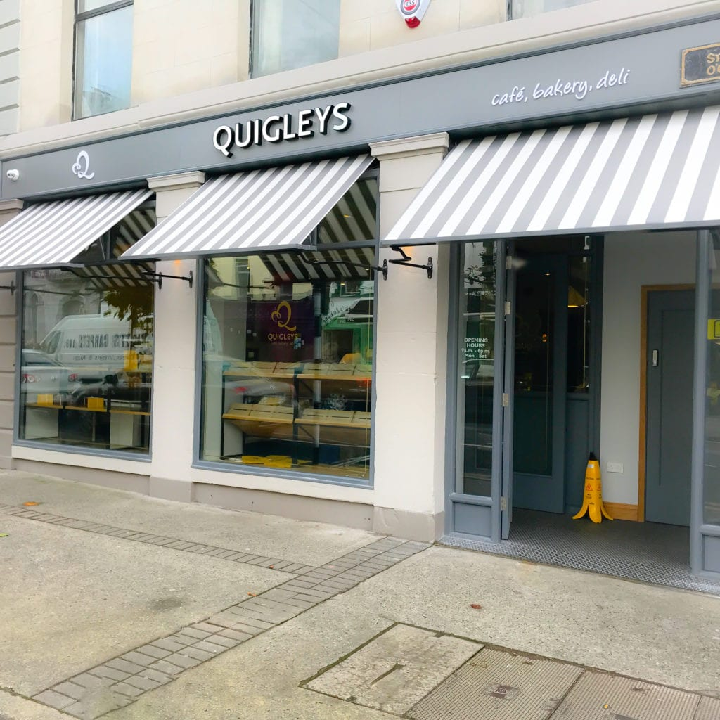 Street view of Quigley's bakery, cafe and deli